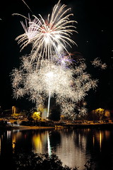 Sparkle - fireworks at Lions Field photo by Derek Lyons