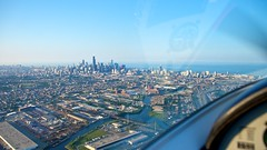 First view of downtown Chicago