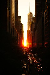 Manhattanhenge July 2011, 42nd Street and Tudor City Place Overpass, Midtown New York City - 160 photo by Vivienne Gucwa