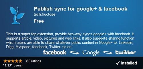 Publish sync for google+ & facebook