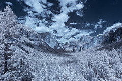 Tunnel View of Yosemite Valley in Infrared photo by x-ray tech