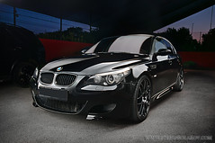 Custom BMW M5 light painted photo by Stefan Solakov
