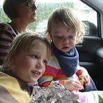 Post swim play in the car<br/>17 Jul 2011