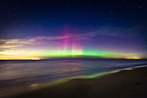 Aurora Over Lake Michigan photo by Eric Hines Photography