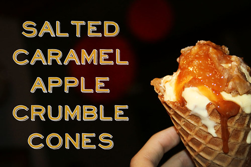 Salted Caramel Apple Crumble Cones