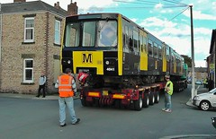 Refurbished Tyne & Wear Metro Car No. 4041 Arriving at North Shields From Wabtec, Doncaster - 7th October 2011 photo by allan5819 (Allan McKever)