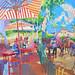 Feria in Jerez, Gouache on paper, 68x51cm