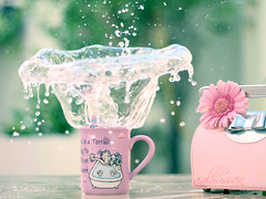 Pink ..Splash [2\?] Explore photo by Corna. QTR ♥ أستغفر الله