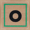 Rubber Stamp Letter o