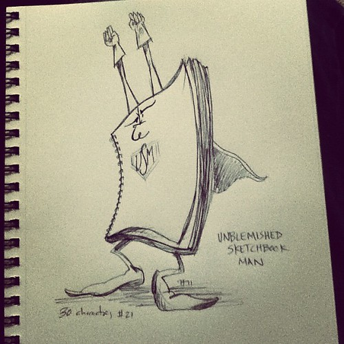 Unblemished Sketchbook Man #30characters #21