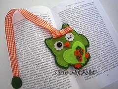 ♥♥♥  Marcador coruja ;) photo by sweetfelt \ ideias em feltro