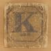Vintage Wooden Block Letter K