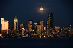 seattle by moonlight 2767 photo by Light of the Moon Photography