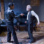 Kareem Bandealy (Mick) and William J. Norris (Davies) in THE CARETAKER.  Photo by Michael Brosilow.