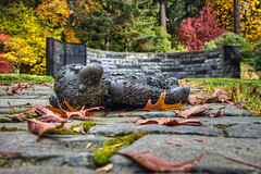 Oregon Holocaust Memorial at Washington Park in Autumn - HDR photo by David Gn Photography
