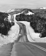 Winter Roads, Quebec photo by Peter Bowers