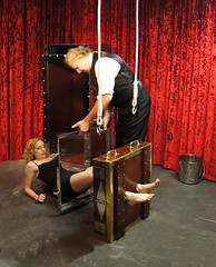 Houdini's Chinese Water Torture Cell photo by Dayle Krall:Most Accomplished Female Escape Artist