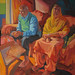 Mr & Mrs Sanghera; 120x151cm, Oil on canvas
