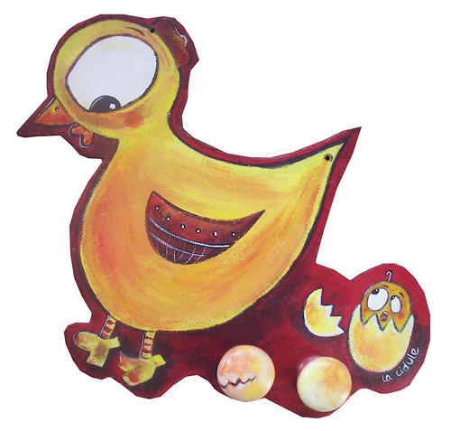 Poule et poussin: VENDU
