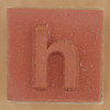Rubber Stamp Letter h