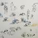 'Workmen studies', 68x51cm, Pencil and watercolour on paper