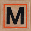 Rubber Stamp Letter M