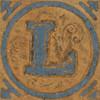 Vintage Wooden Block Letter L