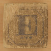 Vintage Wooden Block Letter E