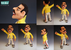 Freddie Mercury Doll - needle felted wool photo by feltalive