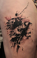 Raven_Drip_Tattoo photo by Gene Coffey