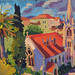 'L'Eglise de Rue Maccarani, Nice'; 33x25cm; Gouache on board
