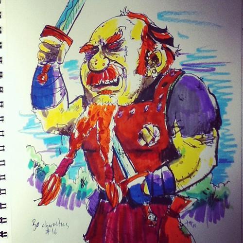 Garglebargle #30characters #16 #dungeonsanddragons #crayola