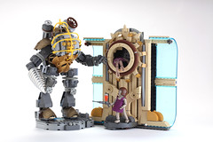 LEGO Big Daddy Little Sisters and Portal by V&A Steamworks photo by V&A Steamworks - Guy HImber