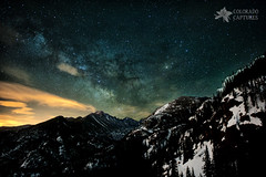 Milky Way Skies Over Glacier Gorge photo by Mike Berenson - Colorado Captures