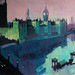'Westminster by night' Acrylic on board, 200cm x 150cm