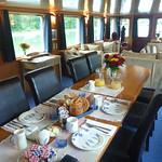 Barge C'est la Vie dining room