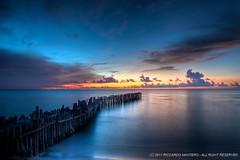 Isla Mujeres magic sunset photo by Riccardo Maria Mantero