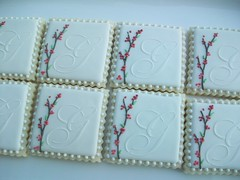 Monogram Wedding Cookies photo by Polka-dot Zebra