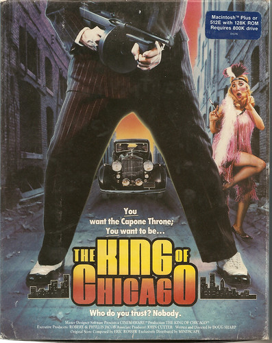 Box Cover of Doug Sharp's The King of Chicago (Cinemaware, 1986)