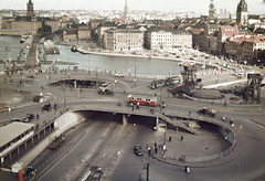Slussen area in Stockholm, Södermanland, Sweden photo by Swedish National Heritage Board