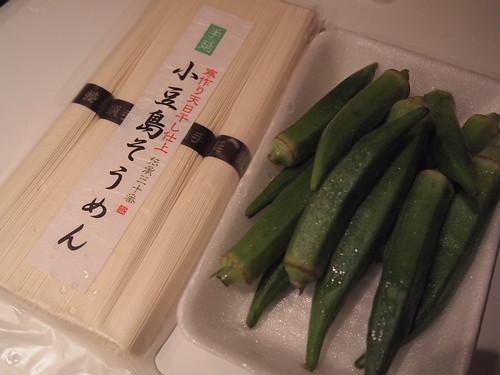 20110820 秋葵素麵