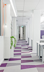 Skype's new Stockholm offices using Vorwerk freeSCALE Partition carpet tiles