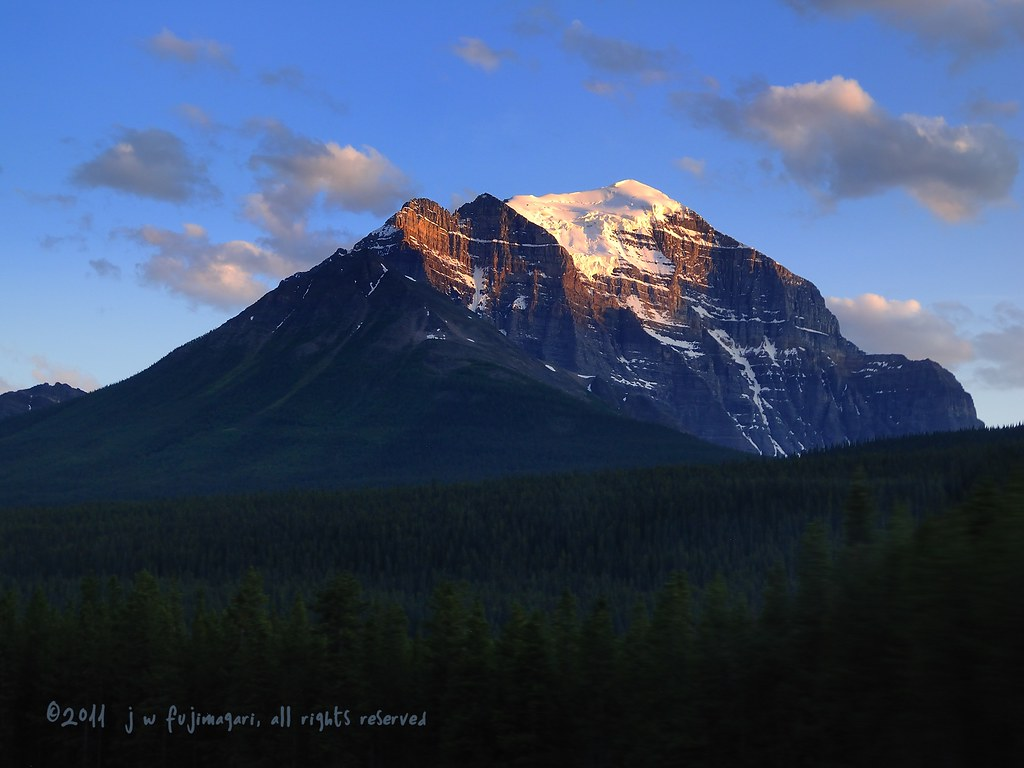 Evening Light On Mount Temple