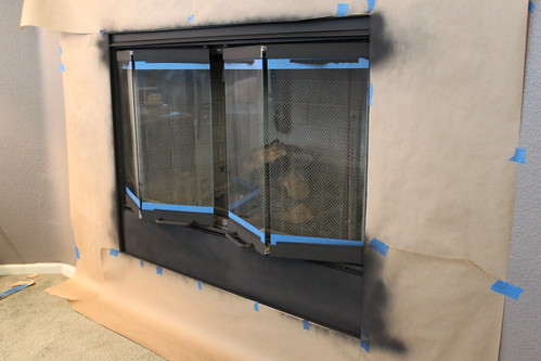 Painting Fireplace Screen Doors For Under 5 Changing My
