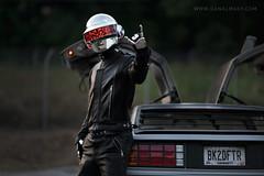 Daft Punk DeLorean Shoot photo by Volpin