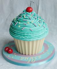Giant Cupcake - Cherry nice! photo by thecustomcakeshop