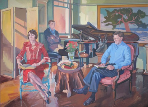 The Jones Family, Oil on canvas, 160x120cm