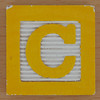 Fridge Magnet Letter C