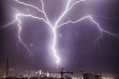 Lightning Striking CN Tower photo by Richard Gottardo