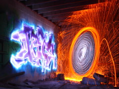 Day 326 (252) - Spray paint vs. Light Paint - Round 2 photo by quornflake